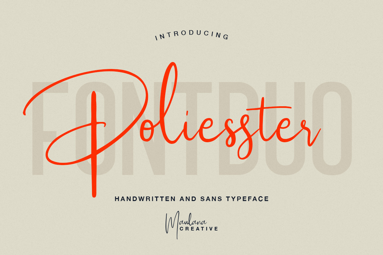 Poliesster - Font Duo Script Sans example image 1