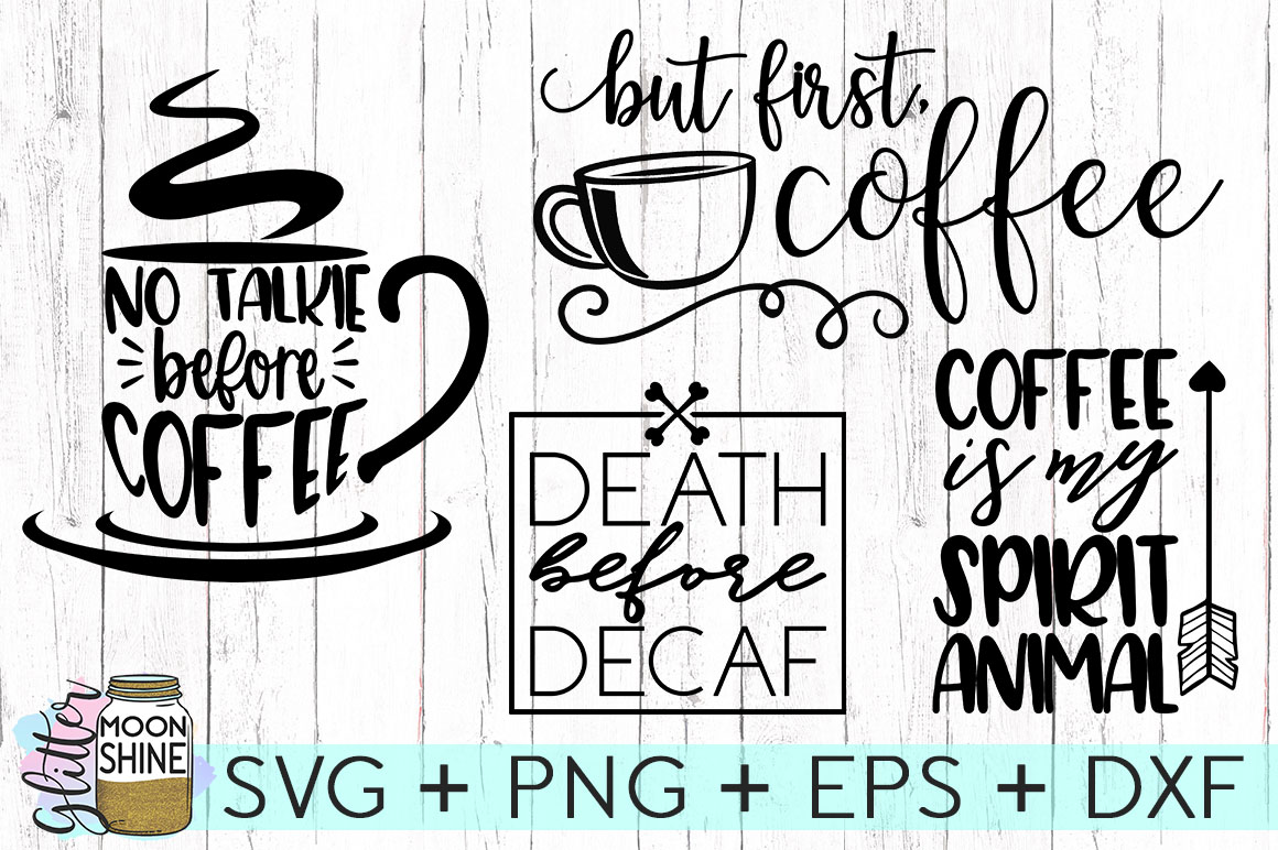Coffee Lovers Bundle Of 16 SVG DXF PNG EPS Cutting Files example image 4