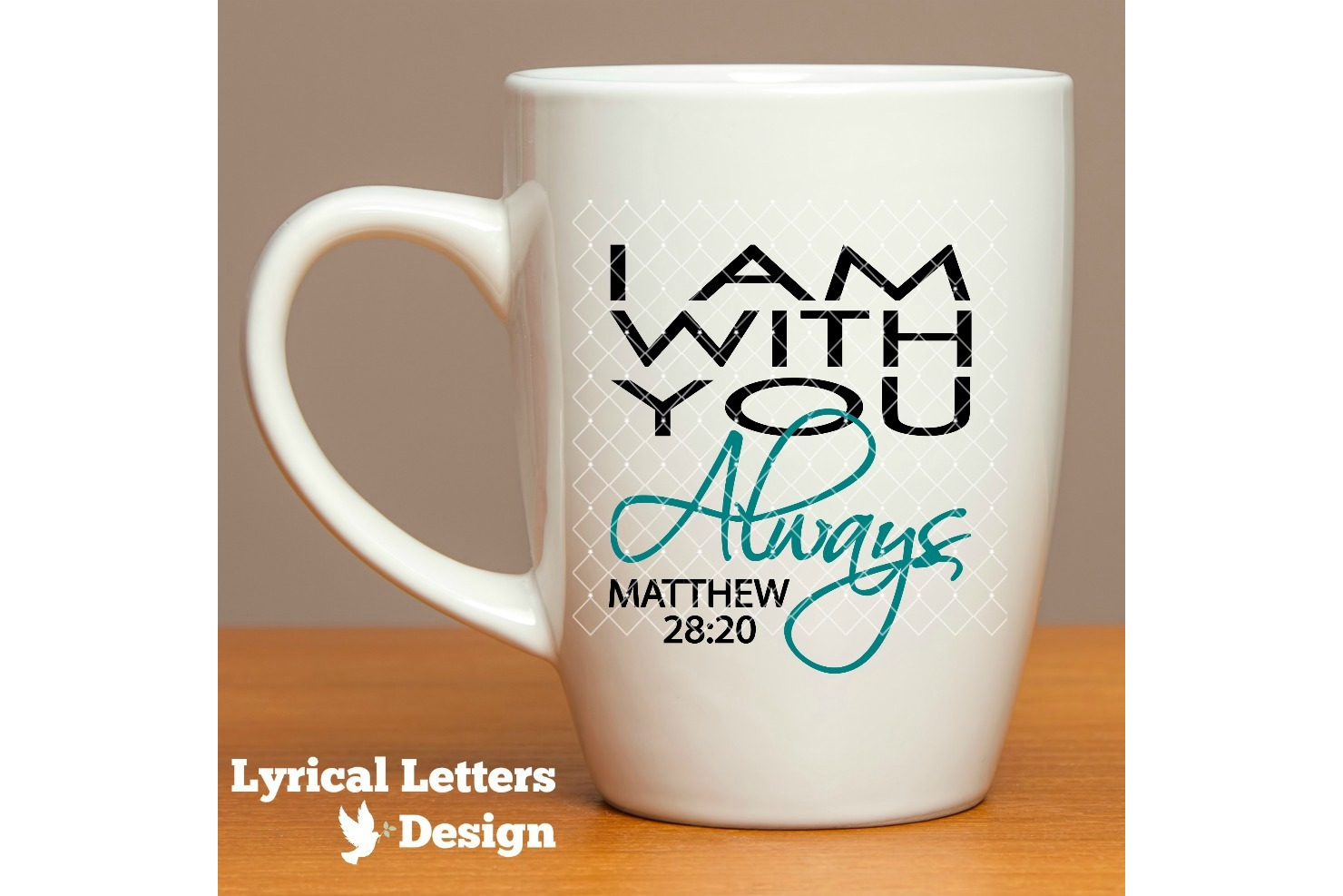 I Am With You Always Matthew 28 SVG DXF LL179A example image 2