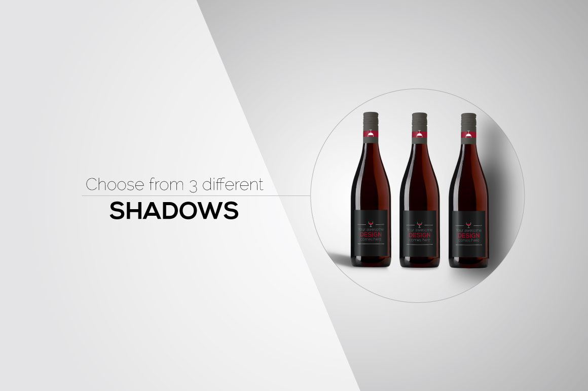 All-In-One Wine Bottle Mockup example image 10
