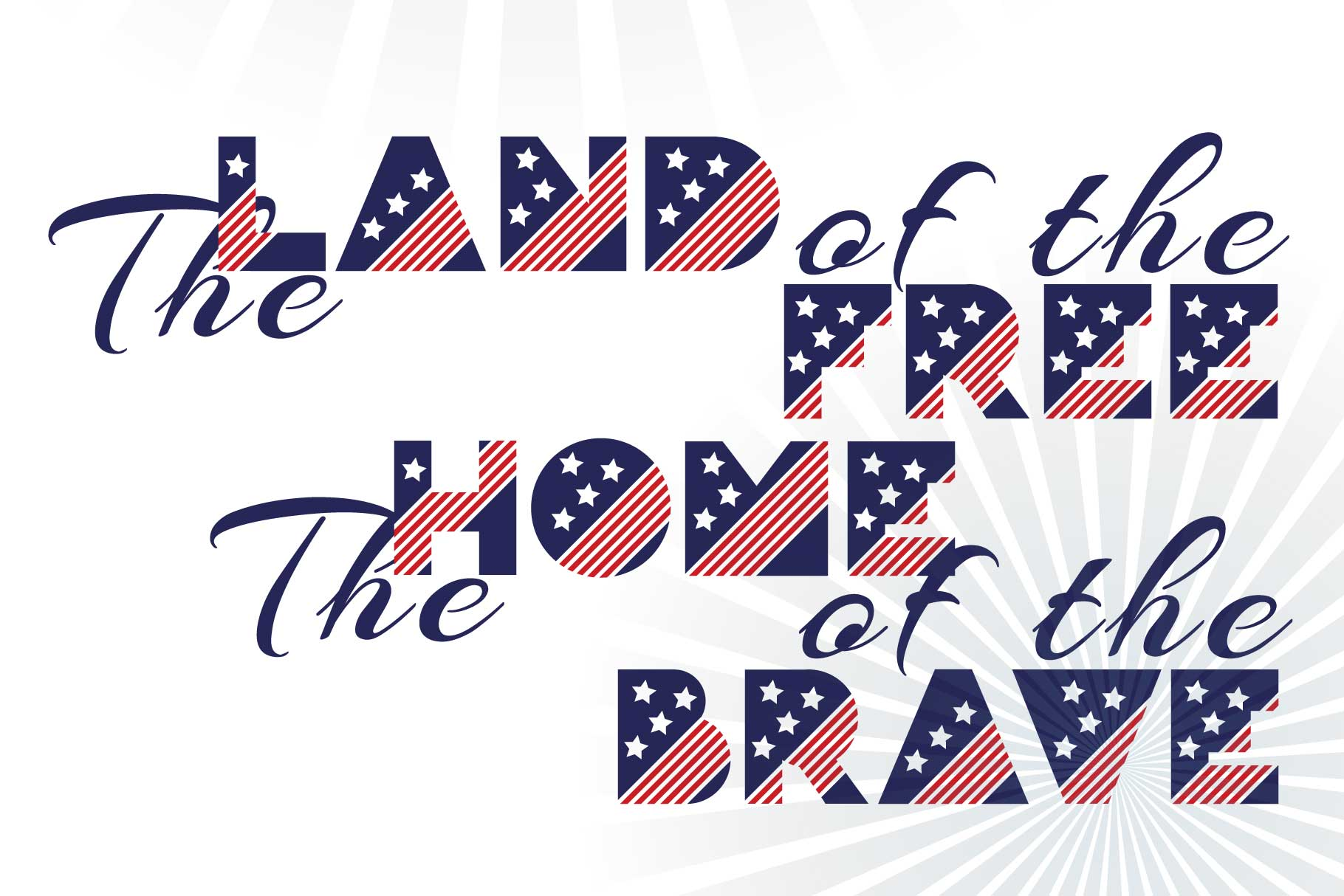 Patriot font family example image 5
