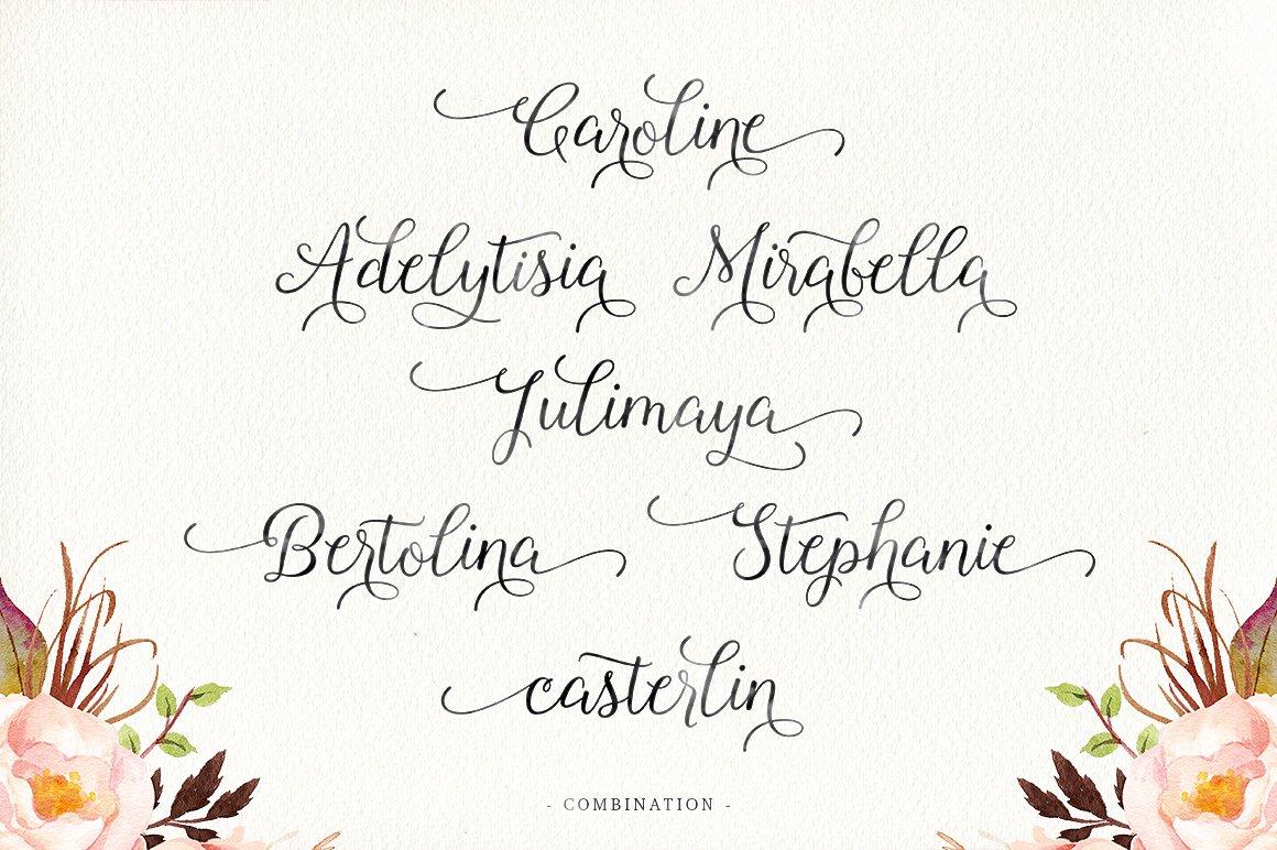 Roselina Script example image 3