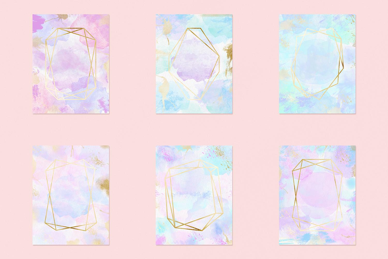 Watercolor Invitation Frames example image 3
