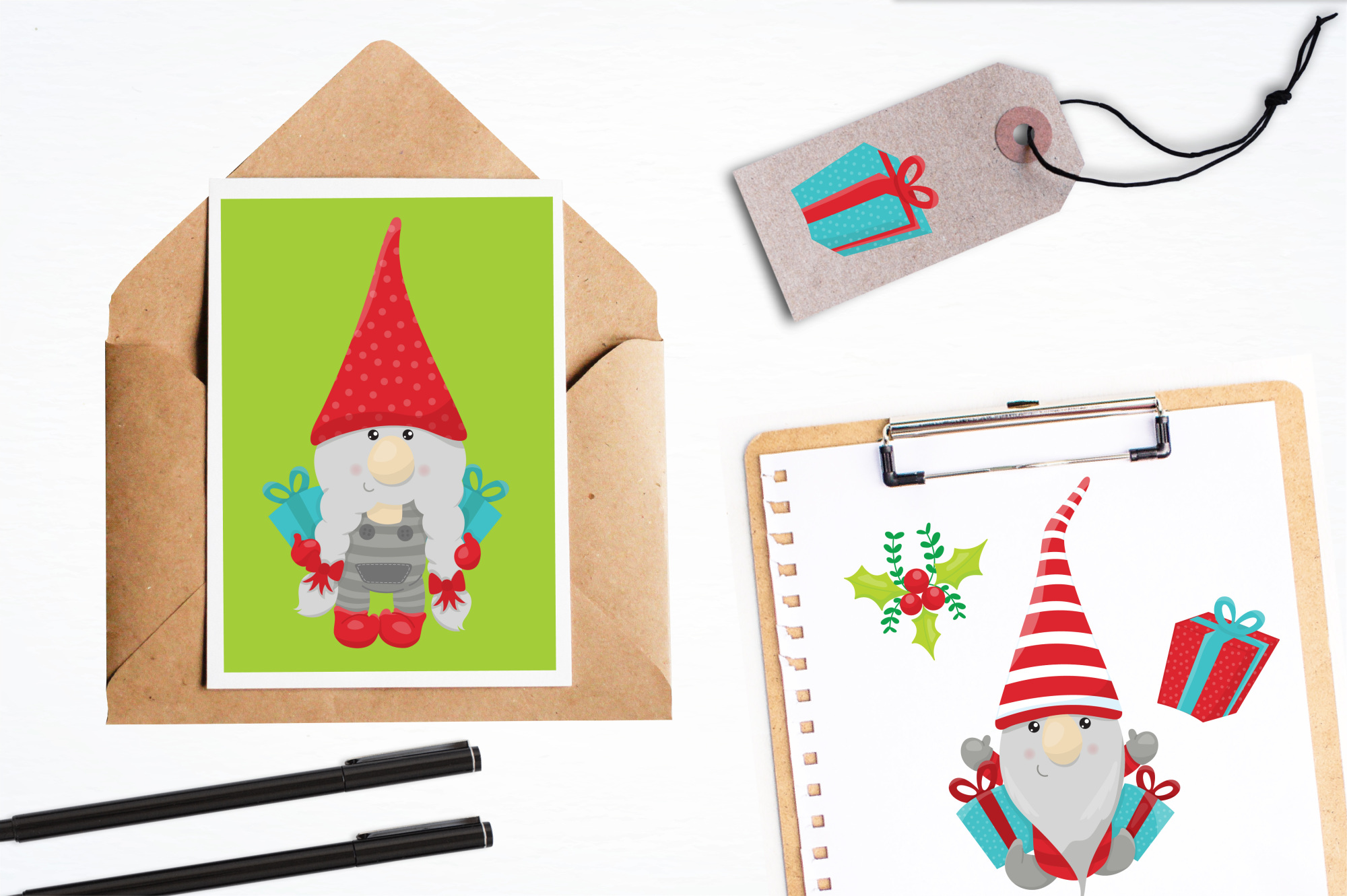 Holiday Gnomes graphics and illustrations example image 4