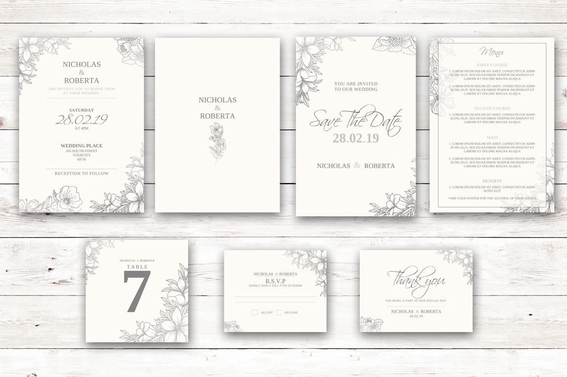 Soft Wedding Invitation Set example image 1