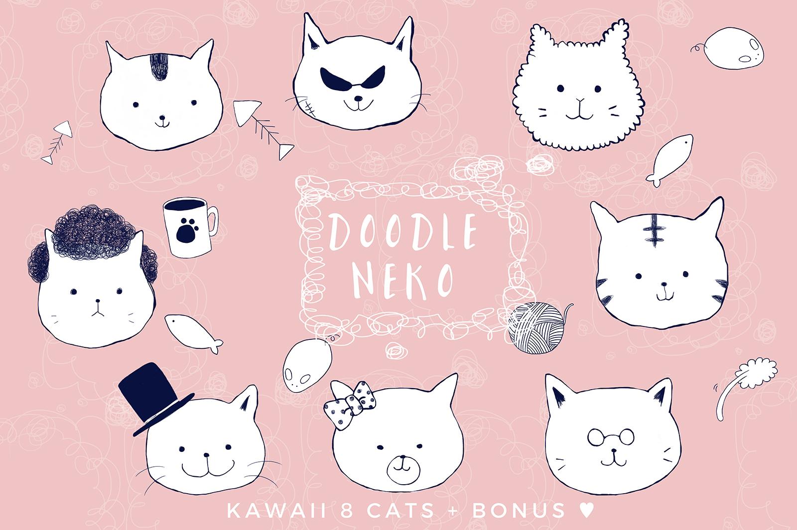 Doodle Neko - Cat Illustrations example image 1
