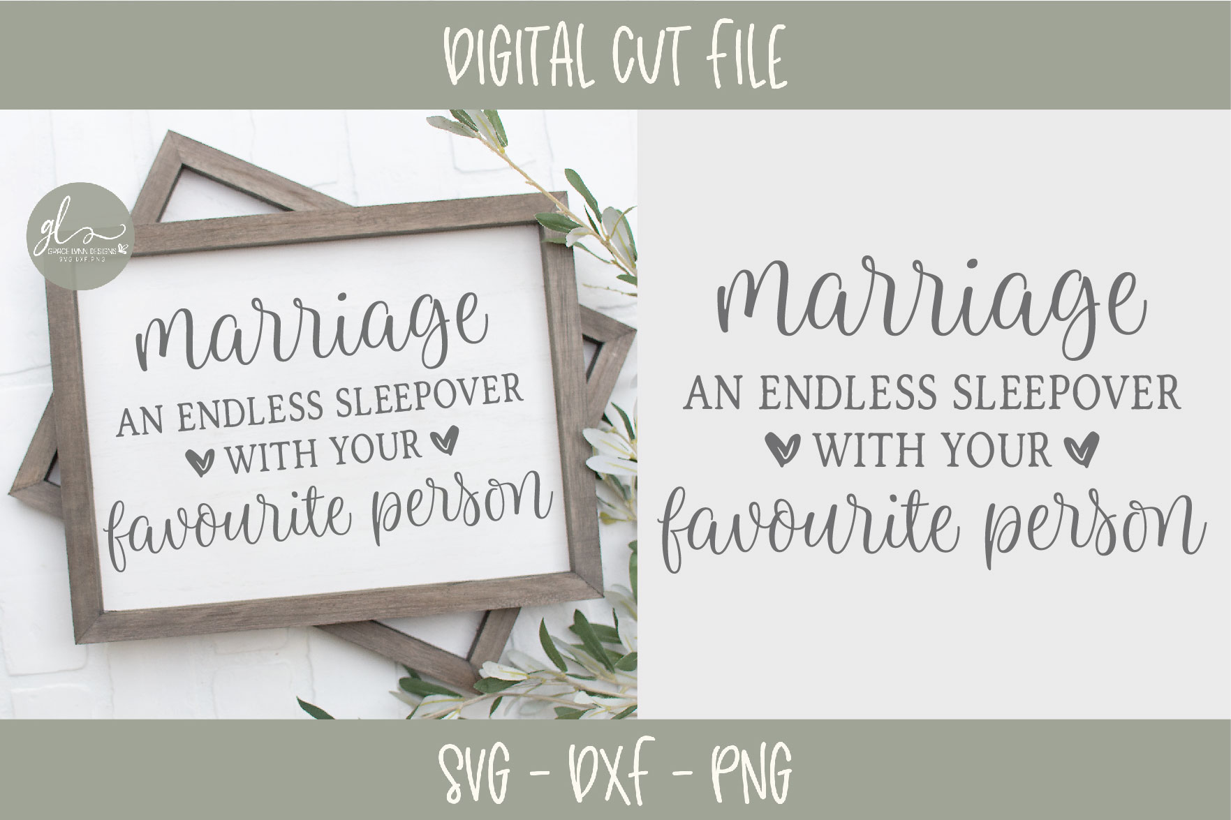 Marriage An Endless Sleepover With Your Favorite Person SVG example image 2