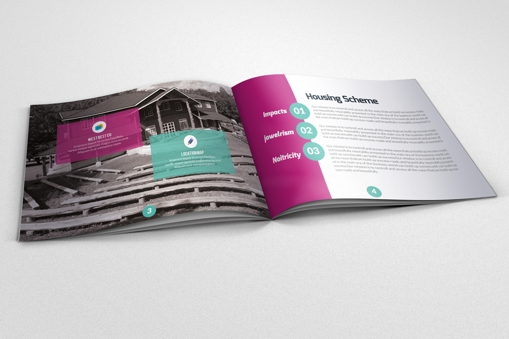 20 Pages Multi Use Minimal Square Brochure example image 9