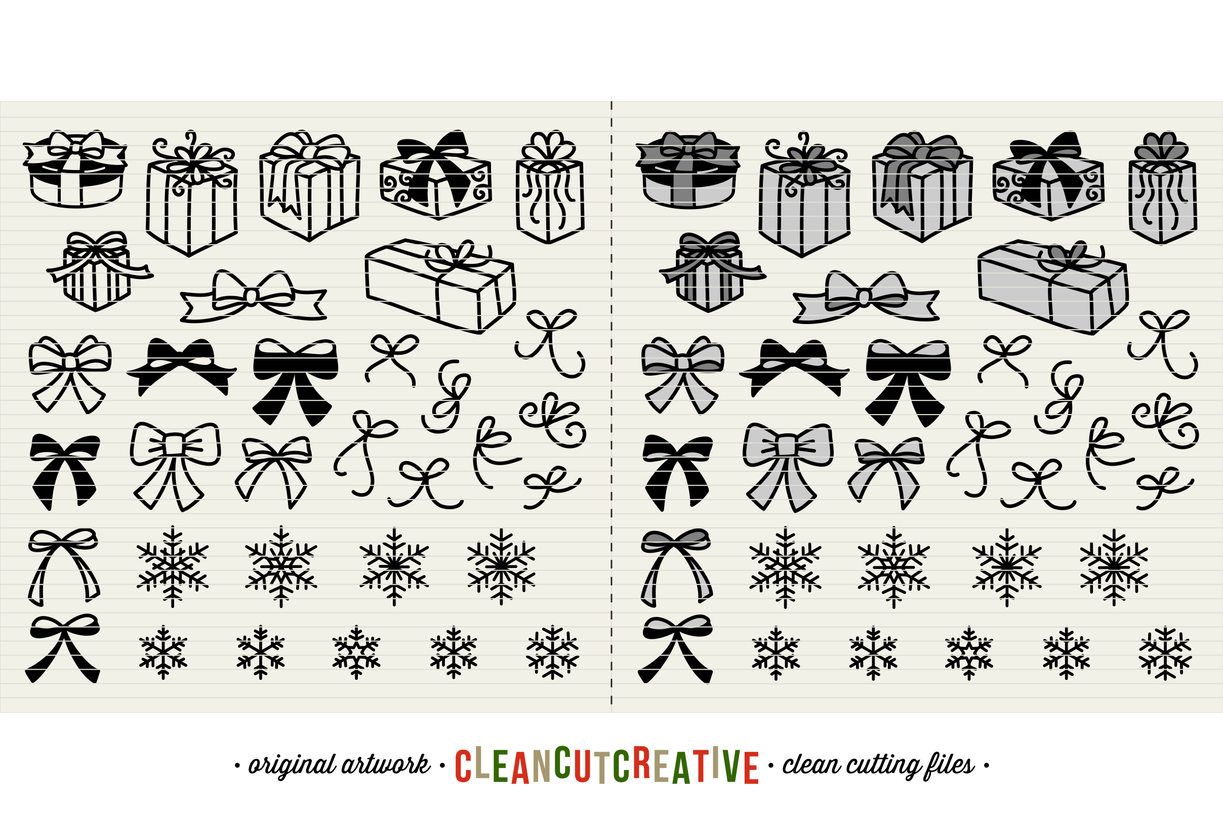 The Crafters Christmas Toolkit - 150+ Christmas Design Elements - SVG DXF EPS - Cricut & Silhouette - clean cutting files example image 5