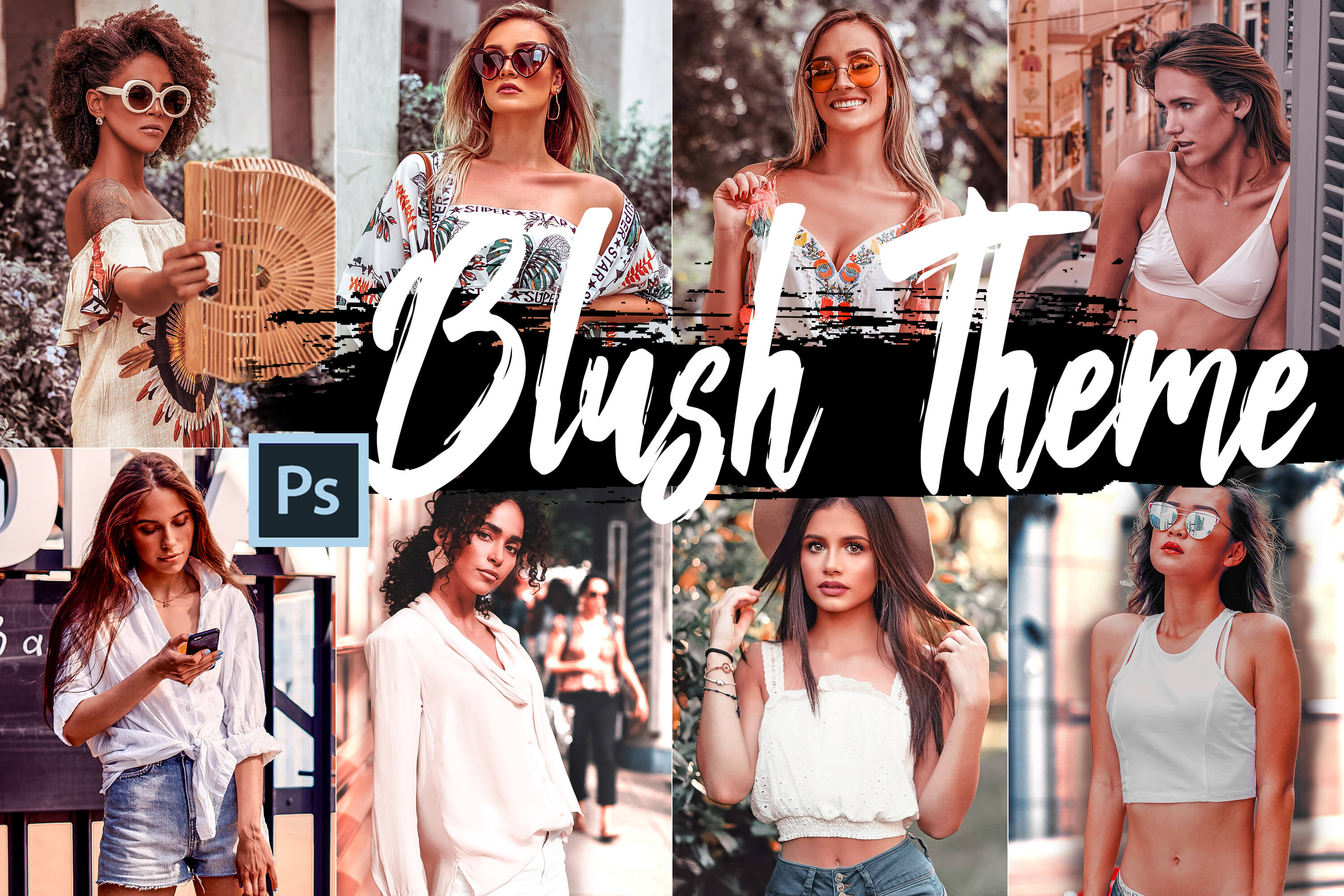 5 Blush Actions, ACR and LUT presets example image 1