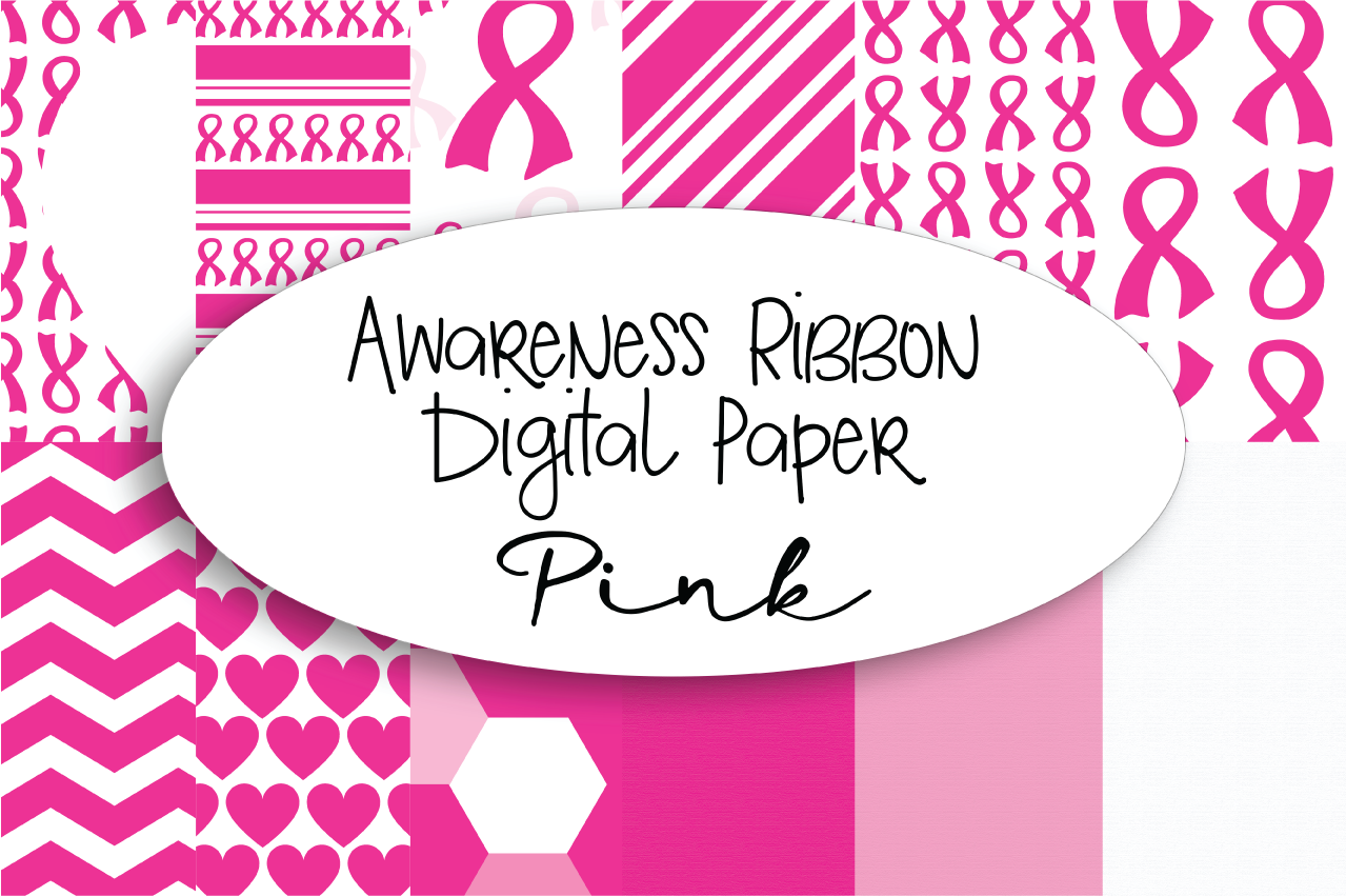 Pink Breast Cancer Awareness Digital Paper example image 1