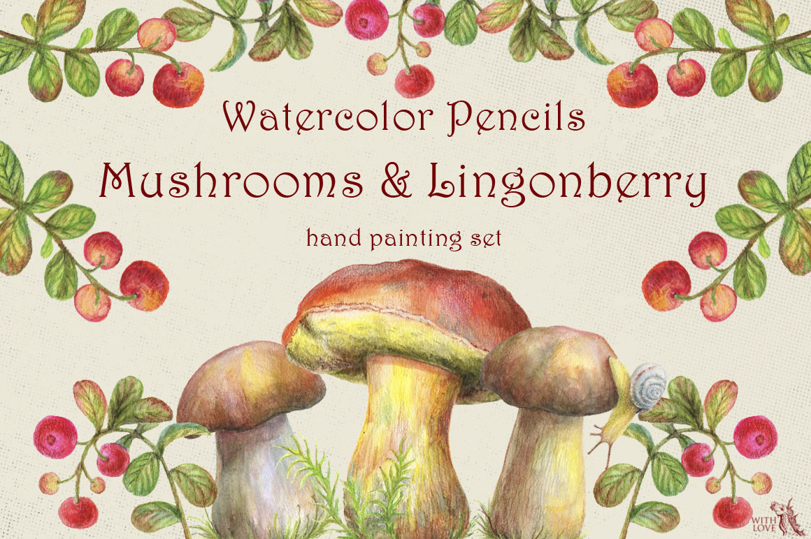 Mushrooms and Lingonberry Set example image 1