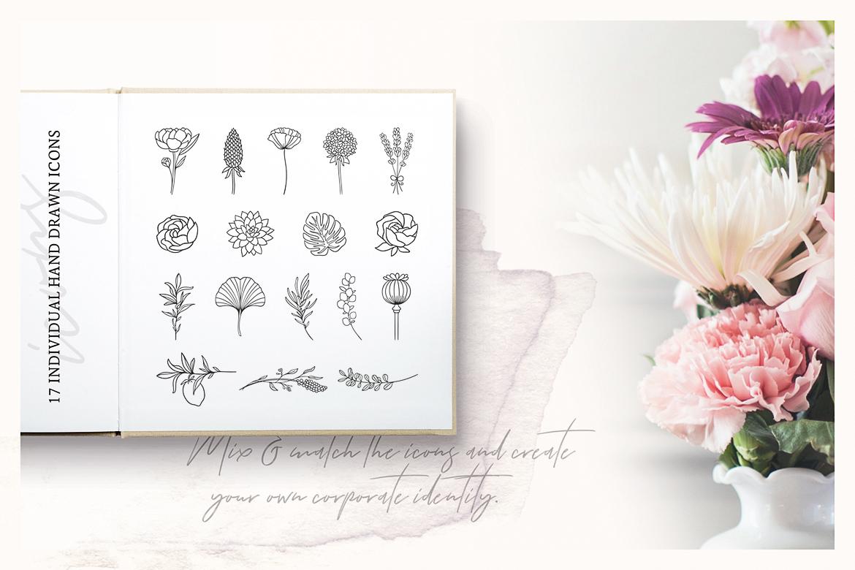 So Flowery Branding Kit + Watercolours example image 11