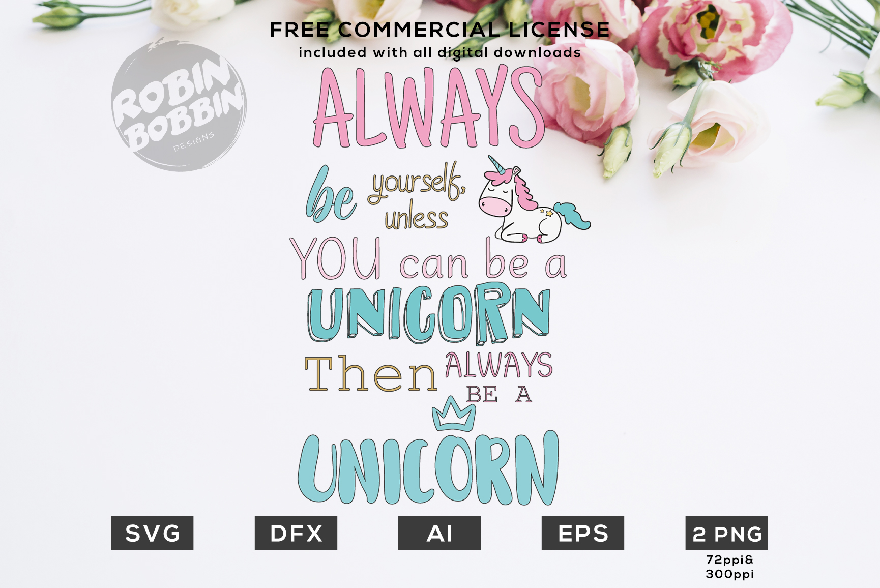 Always be a Unicorn Design for T-Shirt, Hoodies, Mugs example image 1