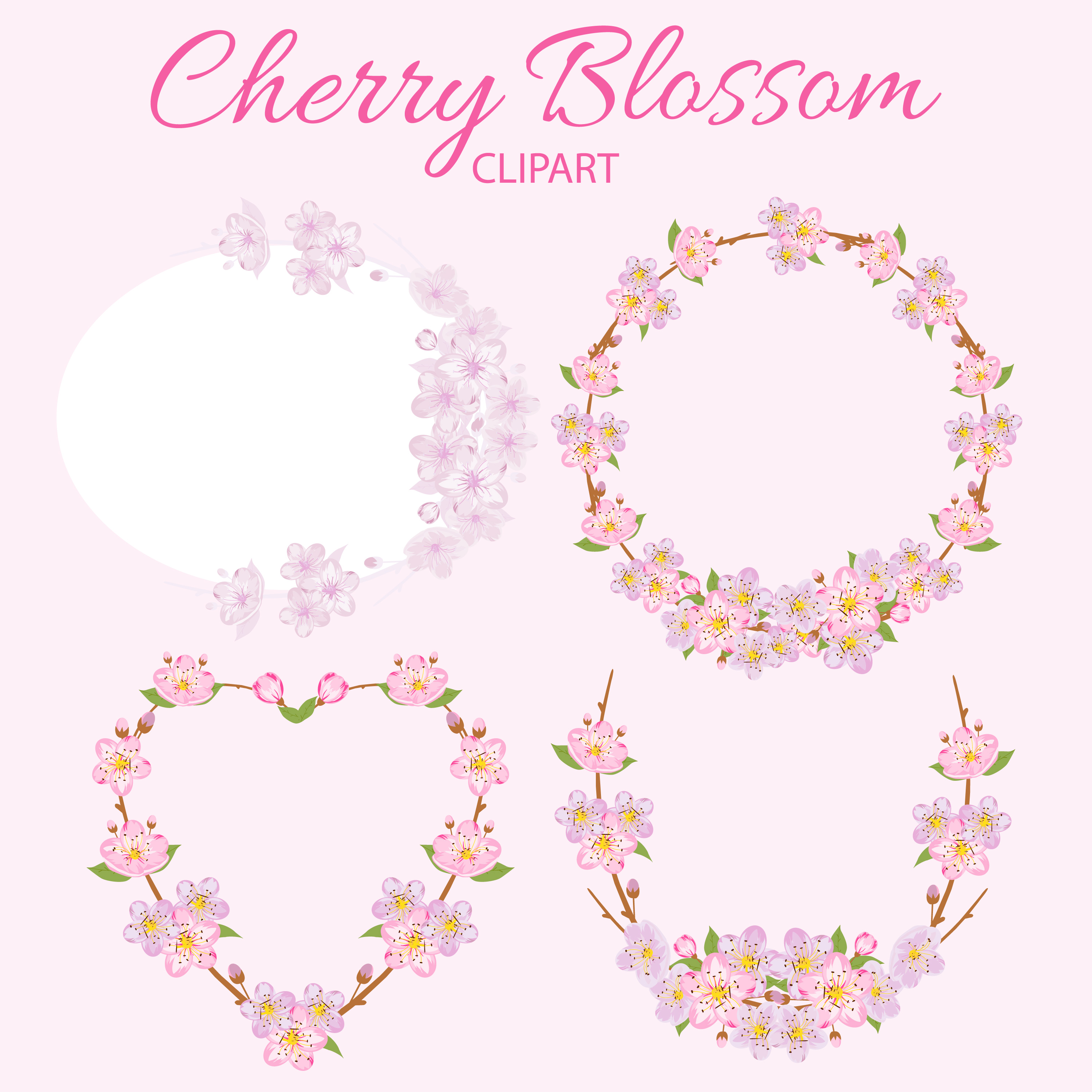 Cherry Blossom Clipart example image 2