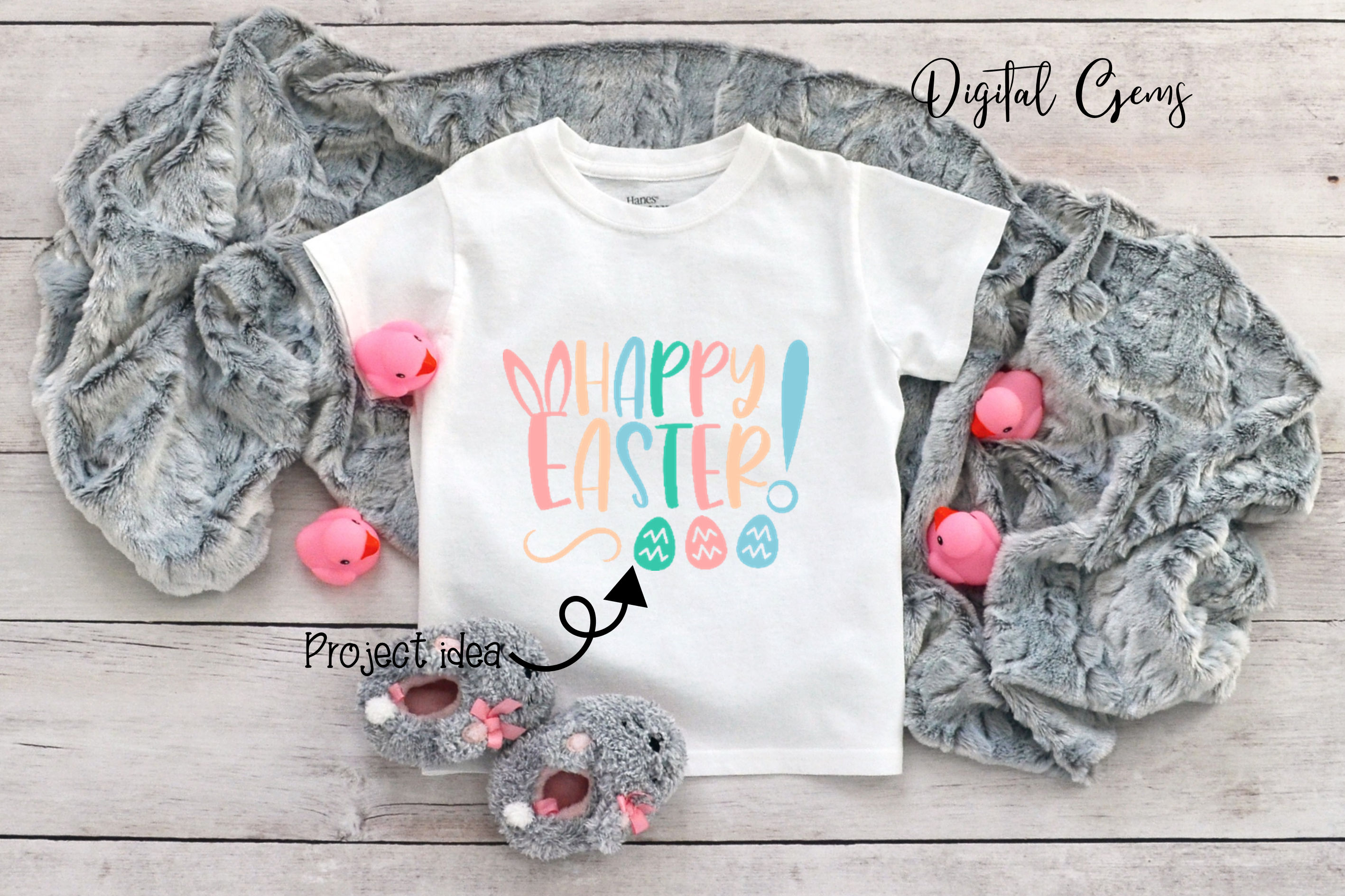 Easter Bundle SVG / DXF / EPS / PNG files example image 9