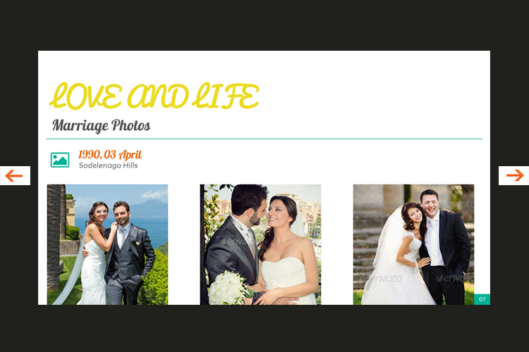 The Biography Presentation Templates example image 8