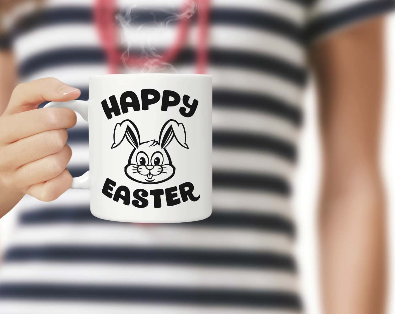 Happy Easter bunny SVG DXF EPS PNG example image 3