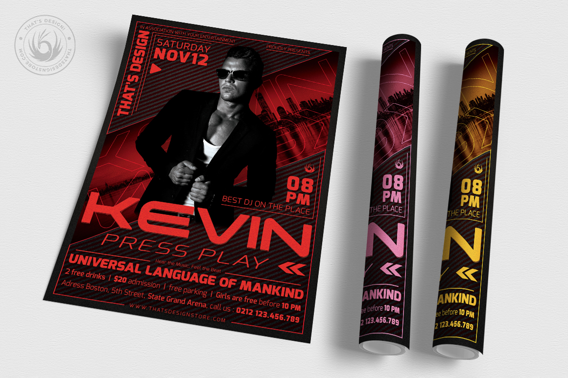 DJ Guest Flyer Template V3 example image 3