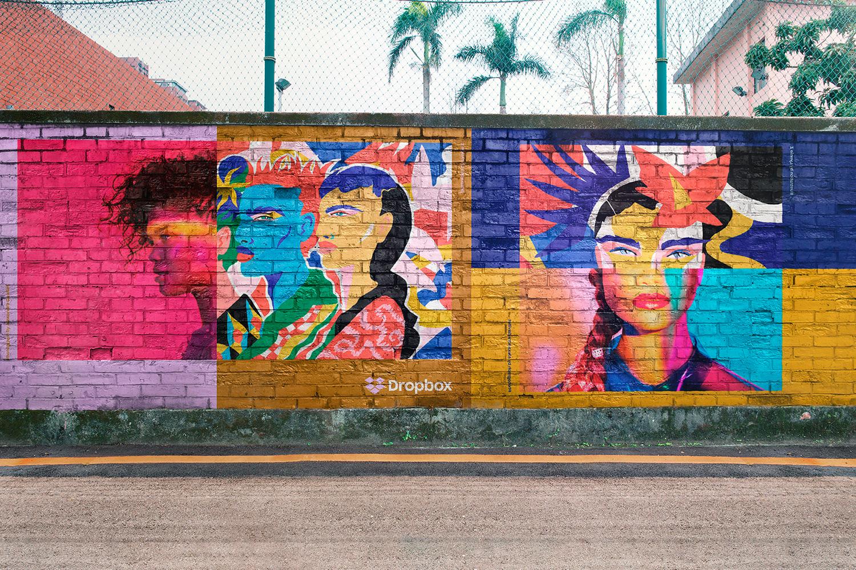 12 Realistic Mural Street Mockup - PSD example image 4