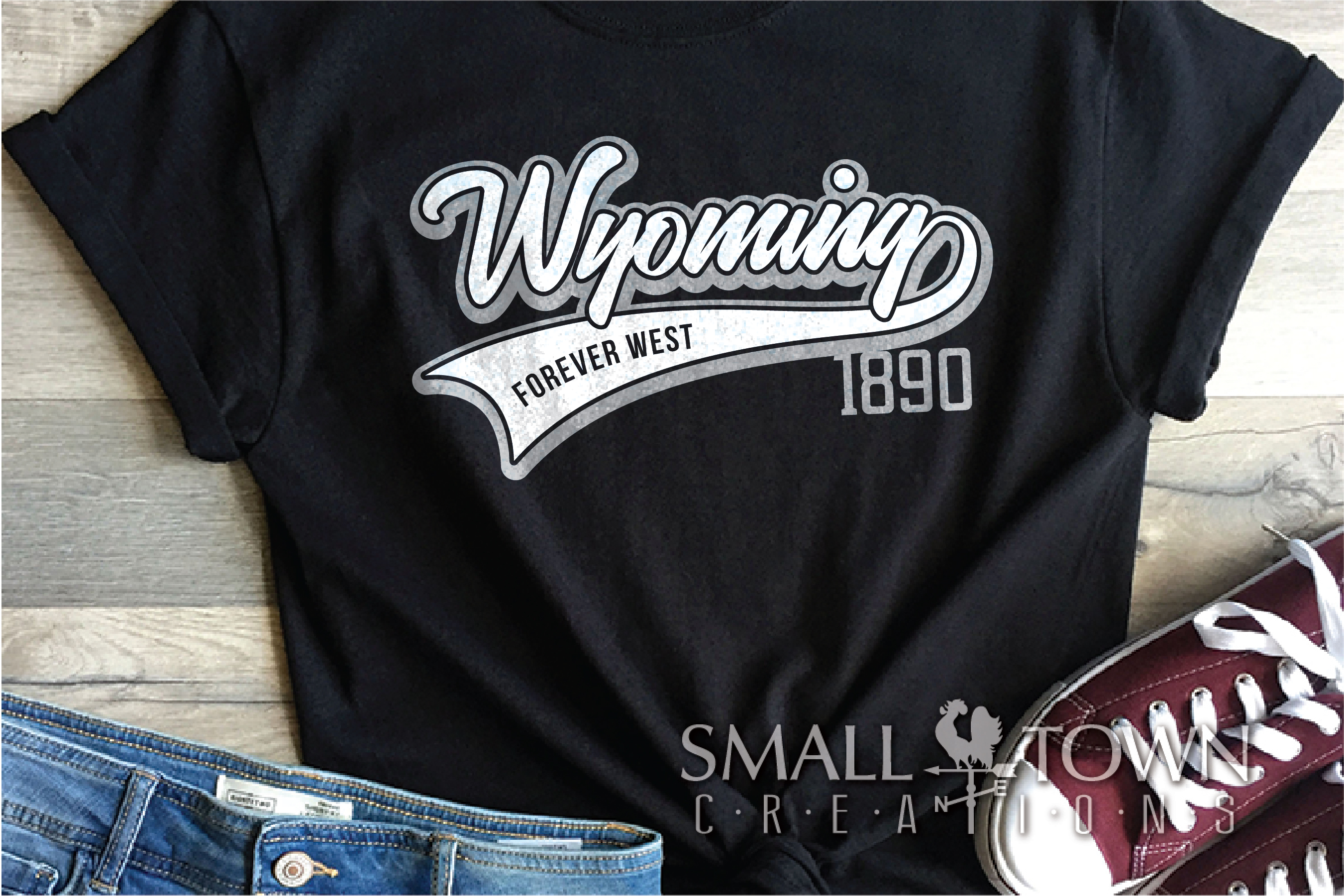 Wyoming, Forever West - slogan, Logo, PRINT, CUT & DESIGN example image 2