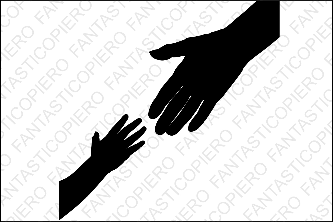 Mother and baby hands SVG files for Silhouette Cameo and Cricut. Mother and baby hands clipart PNG included. Mother's Day SVG, Hands svg example image 1