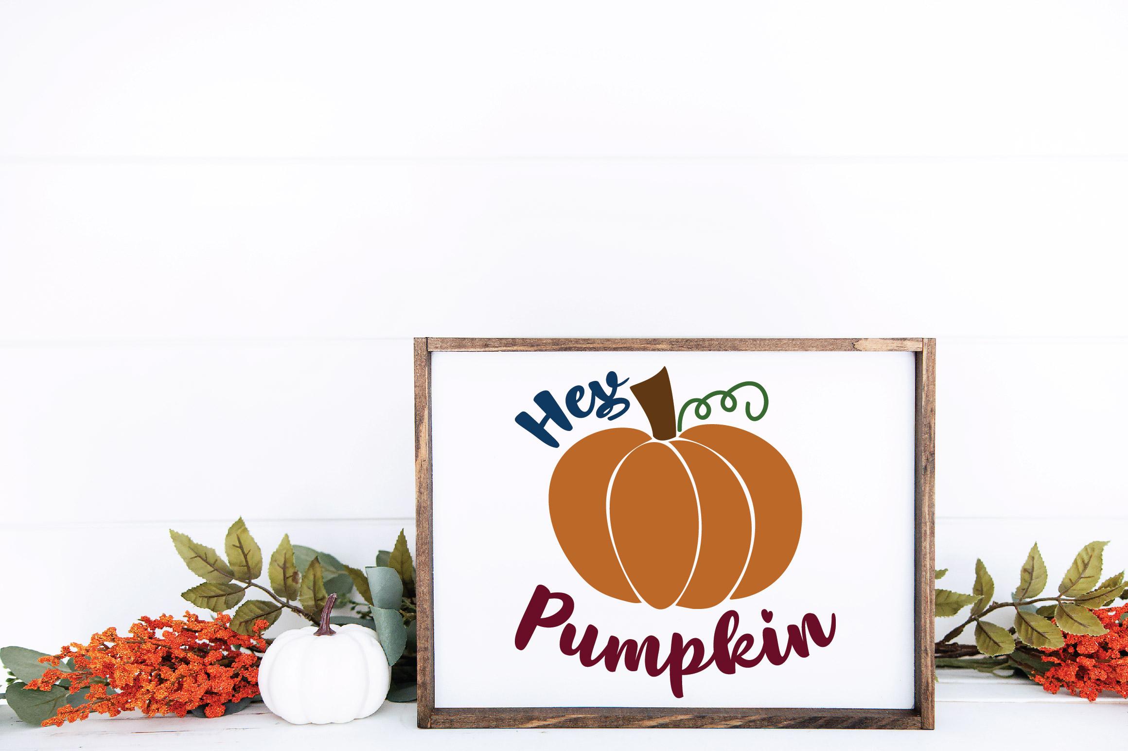 Hey Pumpkin SVG Cut File - Fall Pumpkin SVG example image 6