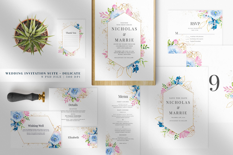 Wedding Invitation Suite - Delicate example image 1