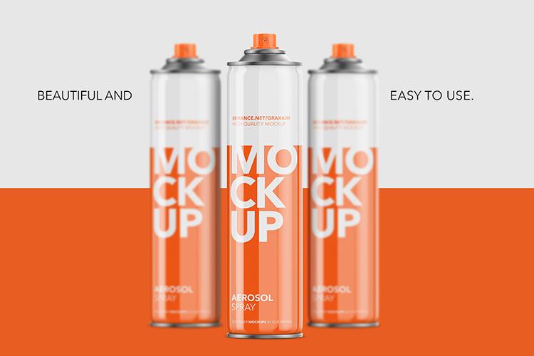 Aerosol Spray Glossy - Front Mockup Tall example image 1