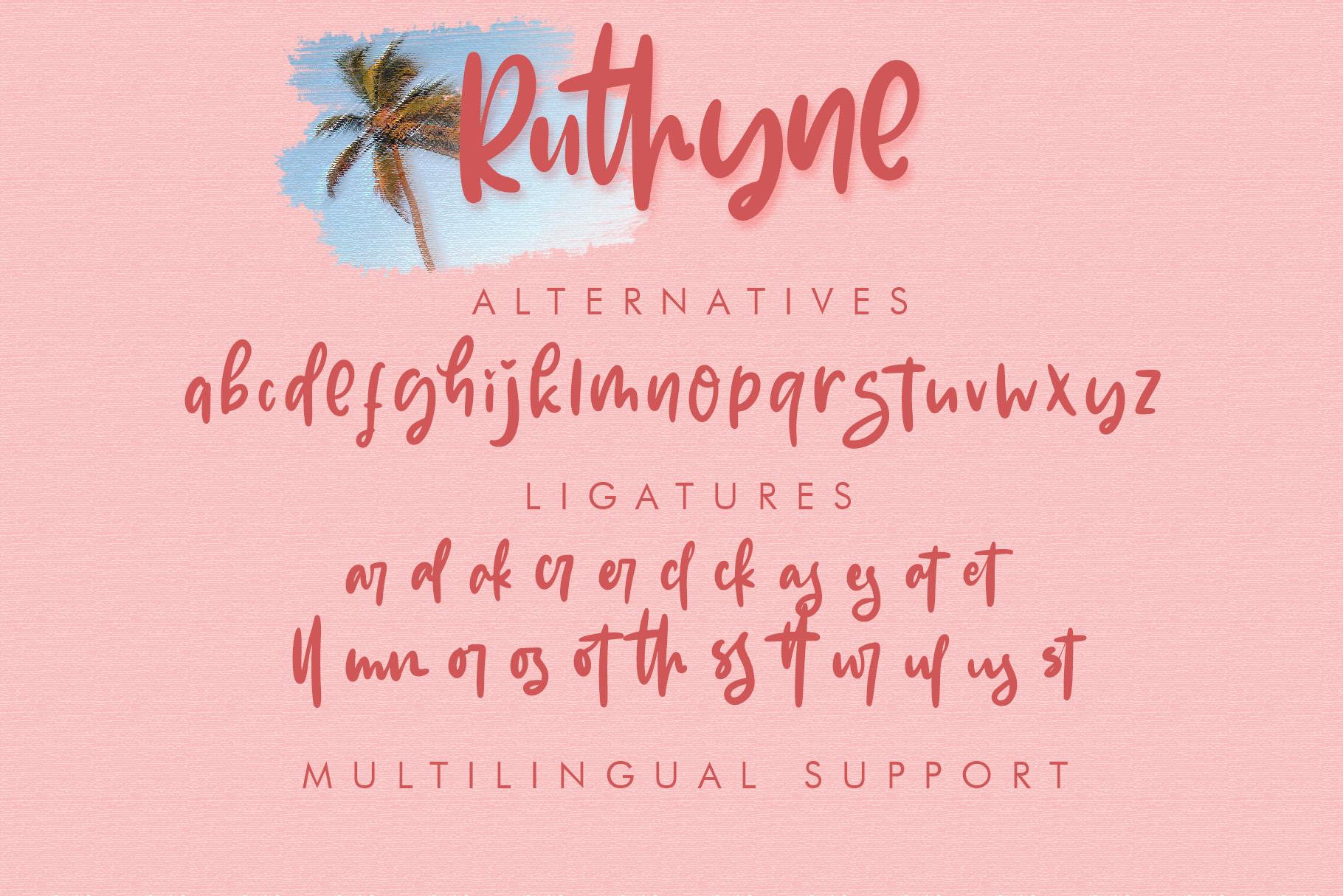 Ruthyne - Handwritten Font example image 10