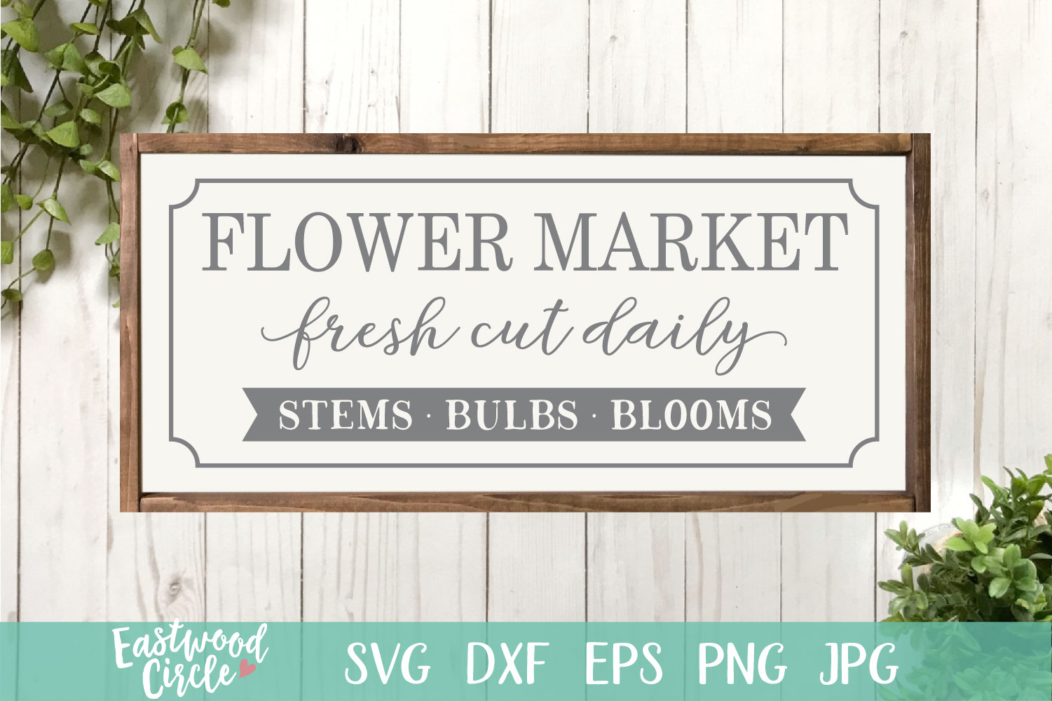 Flower Market - A Spring SVG Cut File example image 1