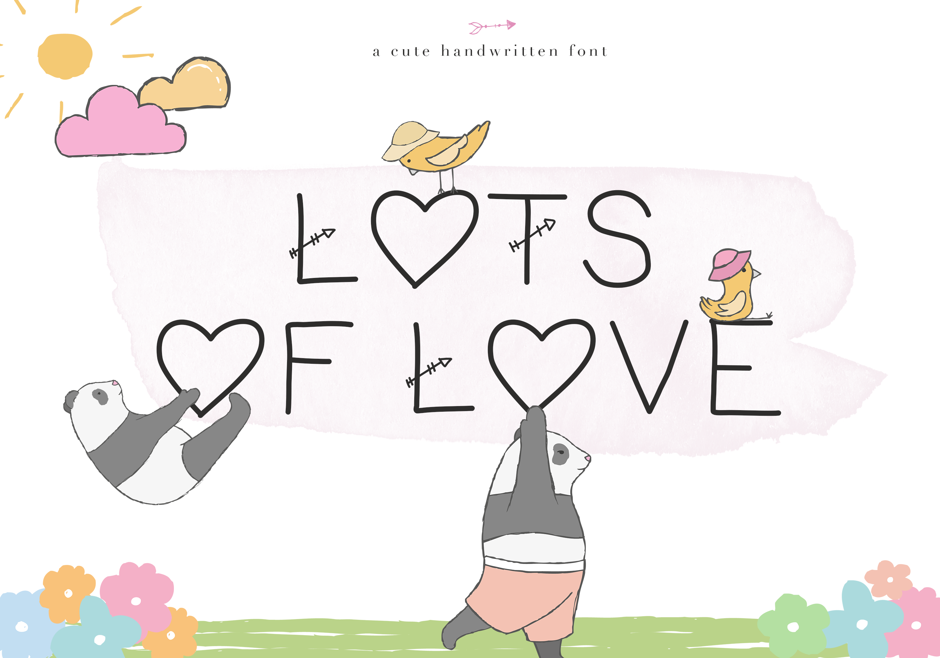 Lots of Love - A Cute Handwritten Font example image 1