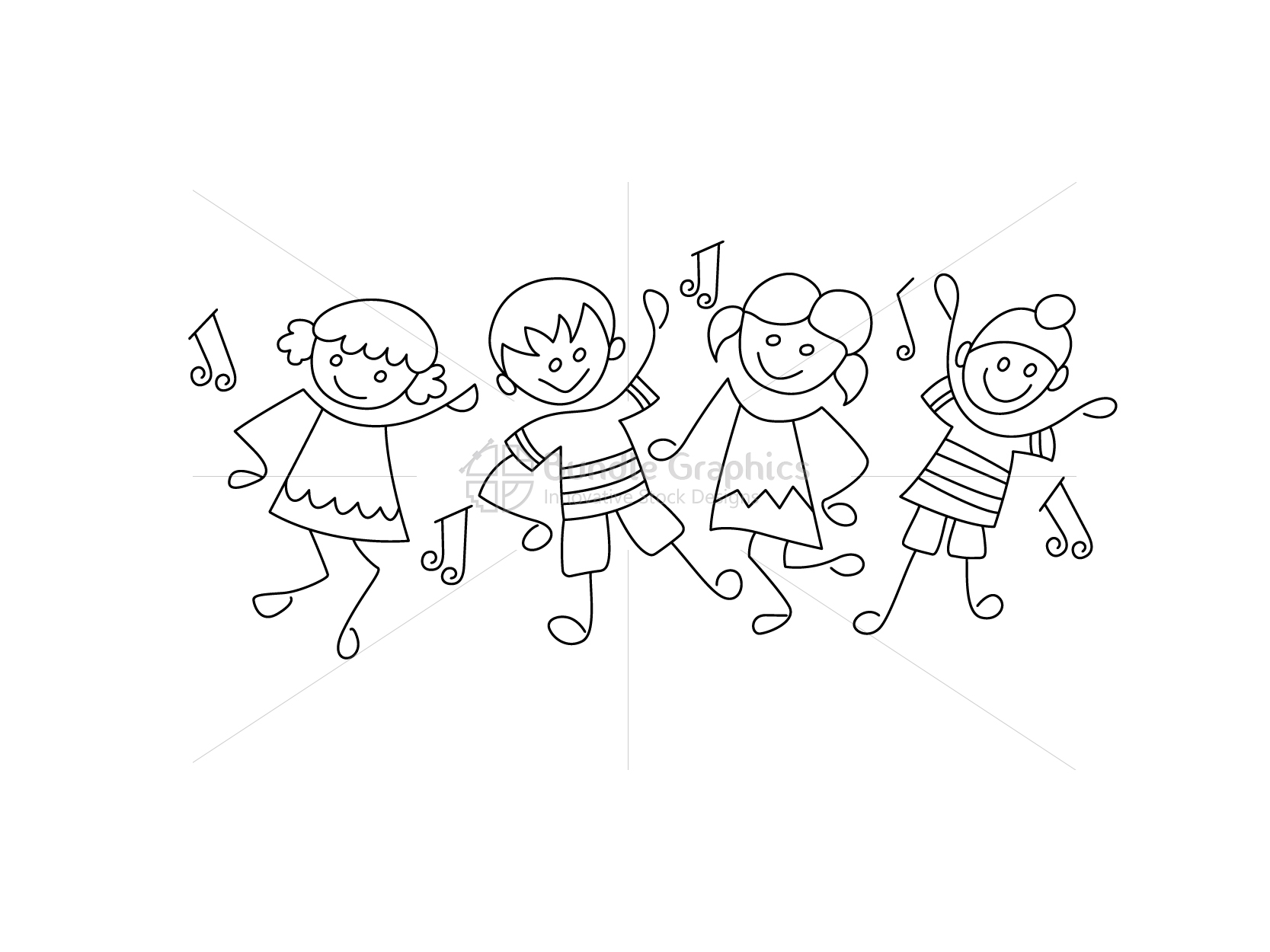 Kid Dance Activity Class Graphical Illustration example image 2
