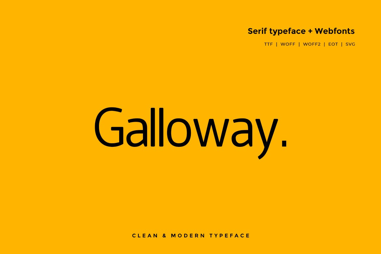 Galloway Modern Typeface WebFont example image 1