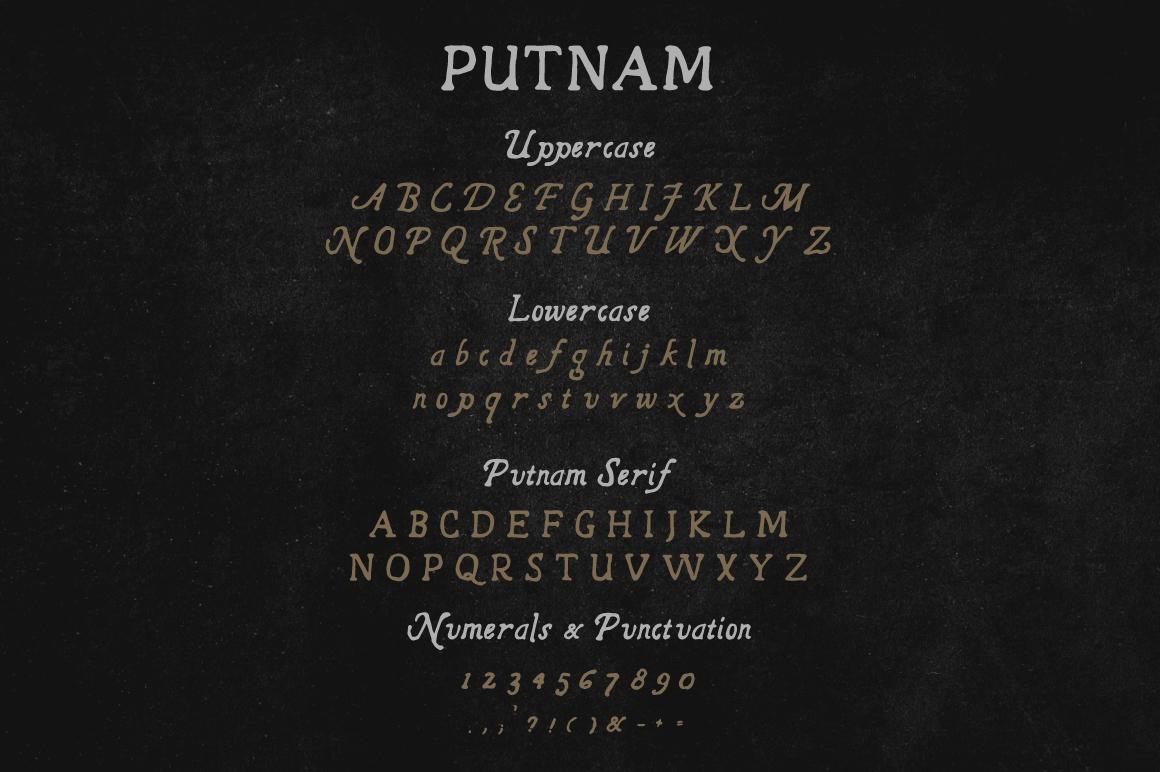 Putnam | A Vintage Typeface example image 5