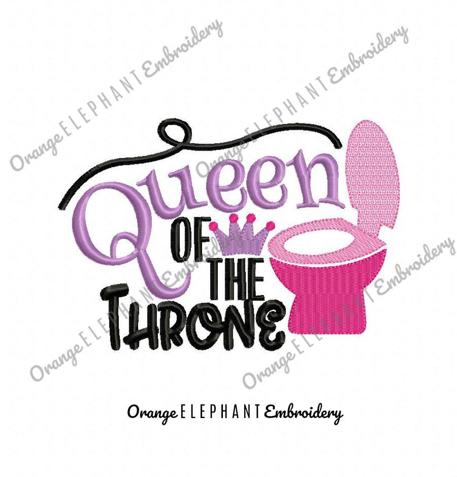 Queen Of The Throne Unique Urban Machine Embroidery Design digital File example image 1