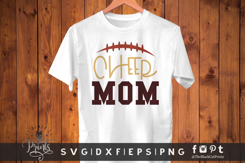 Cheer Mom SVG DXF EPS PNG Football mom Cheer life cut files example image 2