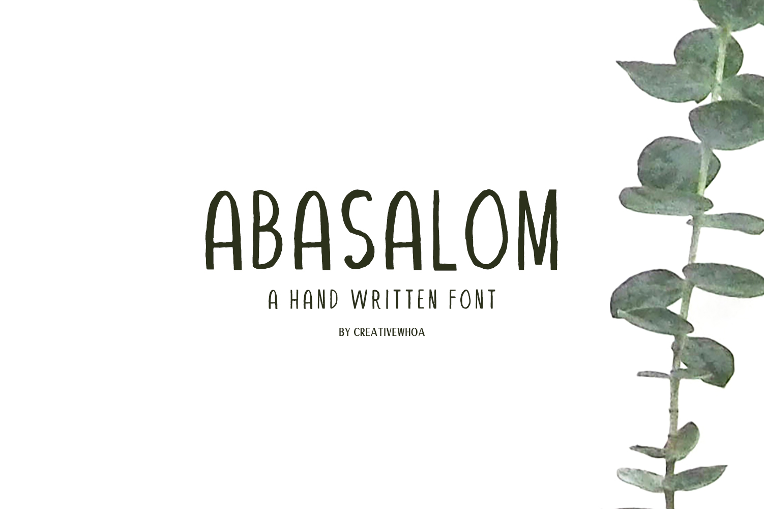 Abasalom A Handwritten Font example image 1