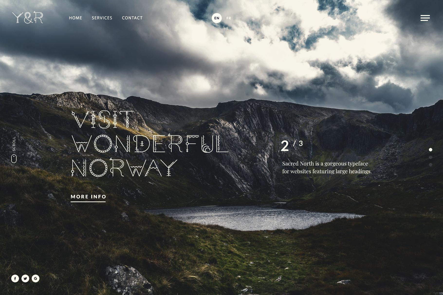 Sacred North Display Font example image 9