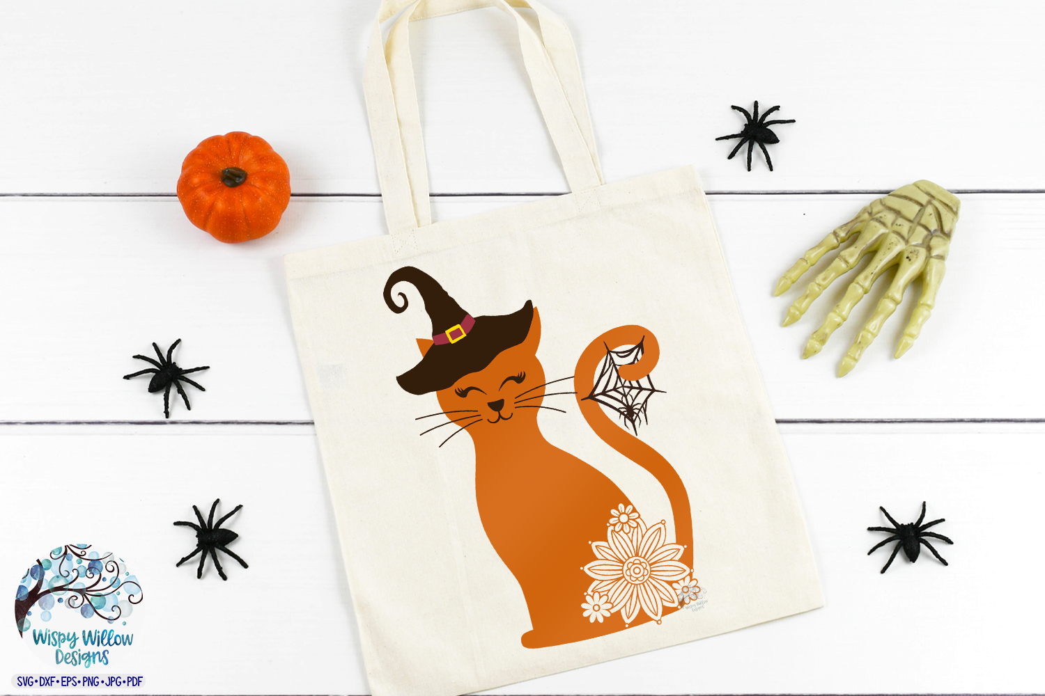 Spooky Witch Cat SVG | Halloween SVG | Fall SVG Cut File example image 2