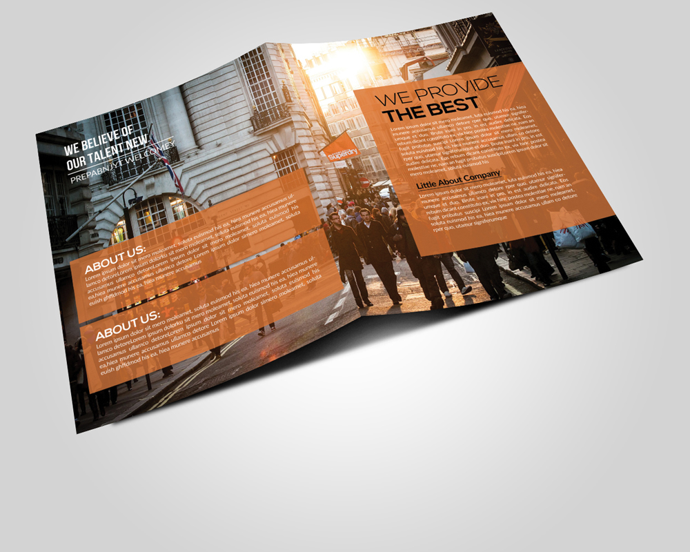 Business Corporate Bi Fold Brochures  example image 2