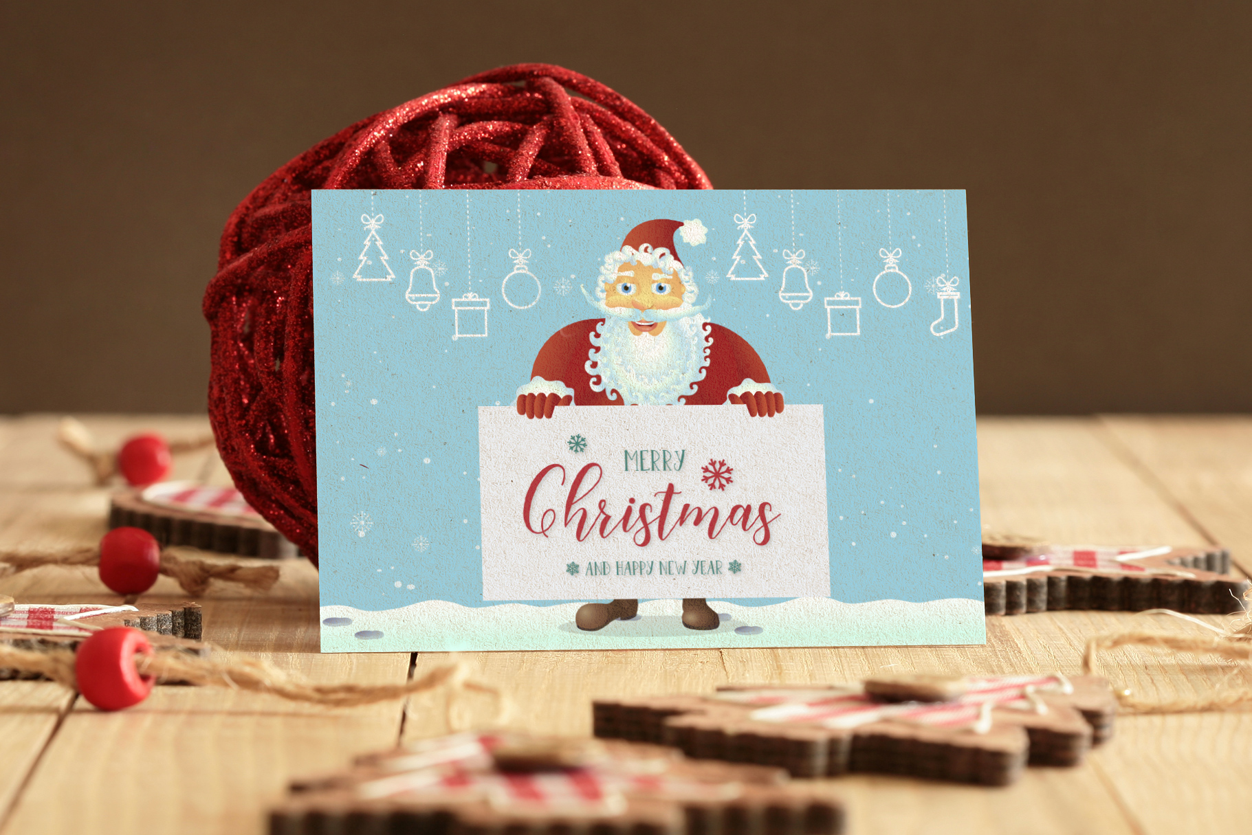 Happy Santa Merry Christmas Set vector collection example image 5