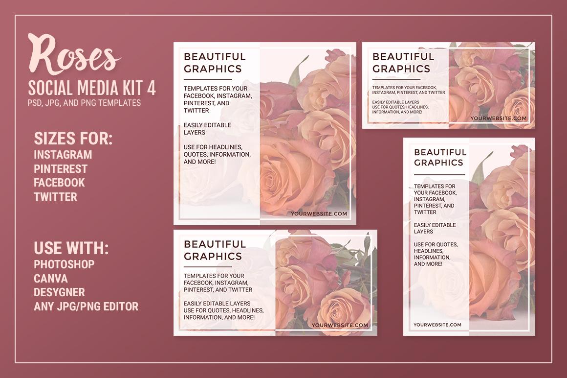 Roses Social Media Kit Bundle example image 6