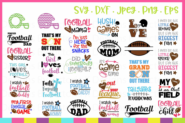 Football Bundle, American Football SVG Cut Files example image 2