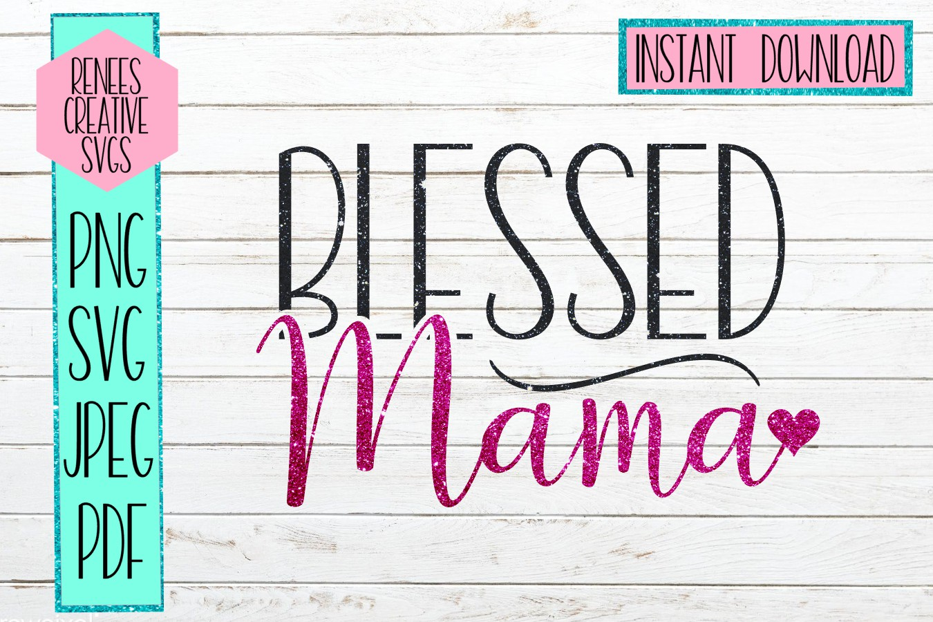 Blessed Mama   Mothers day   SVG Cut File example image 1