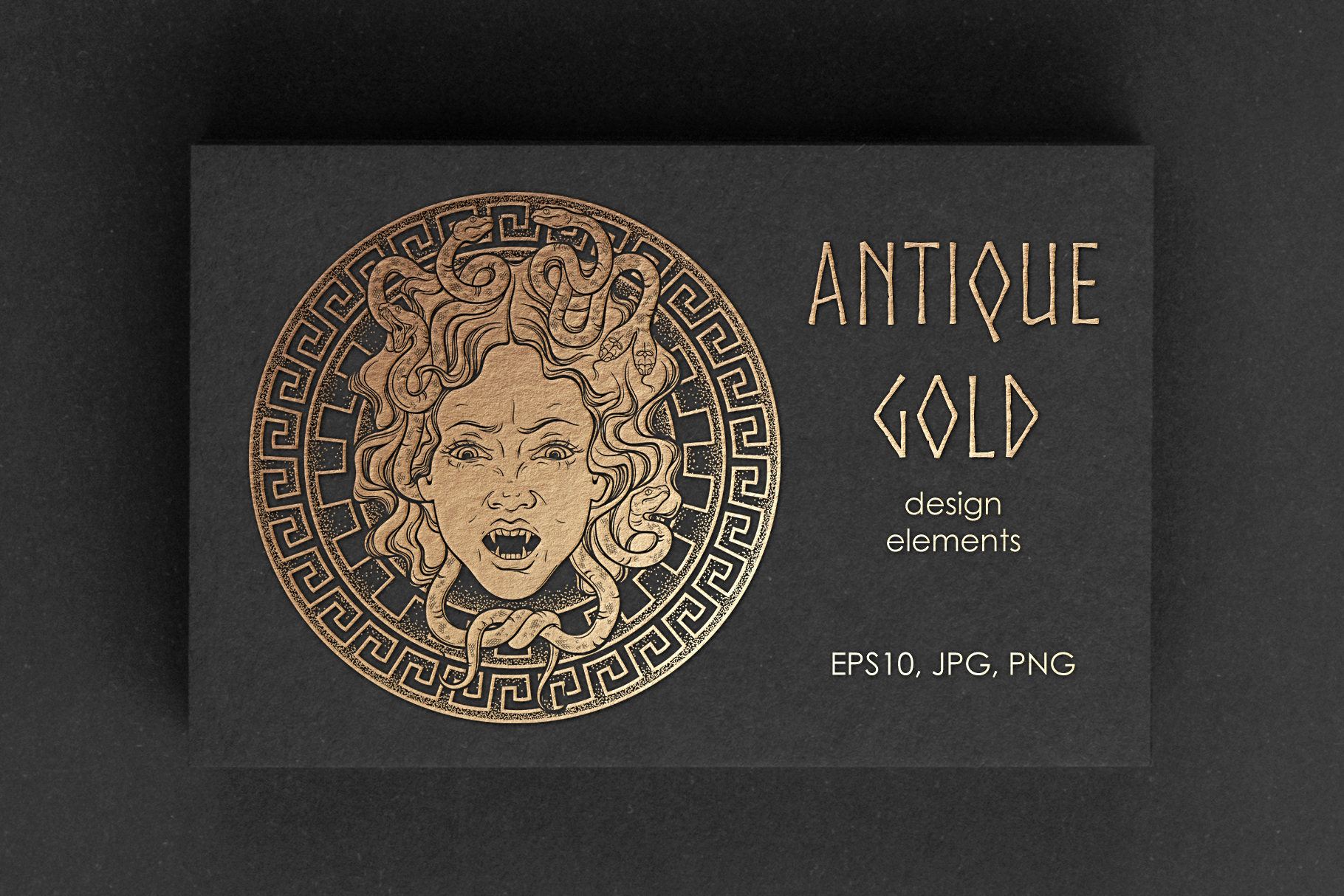 Antique Gold. Design elements example image 1