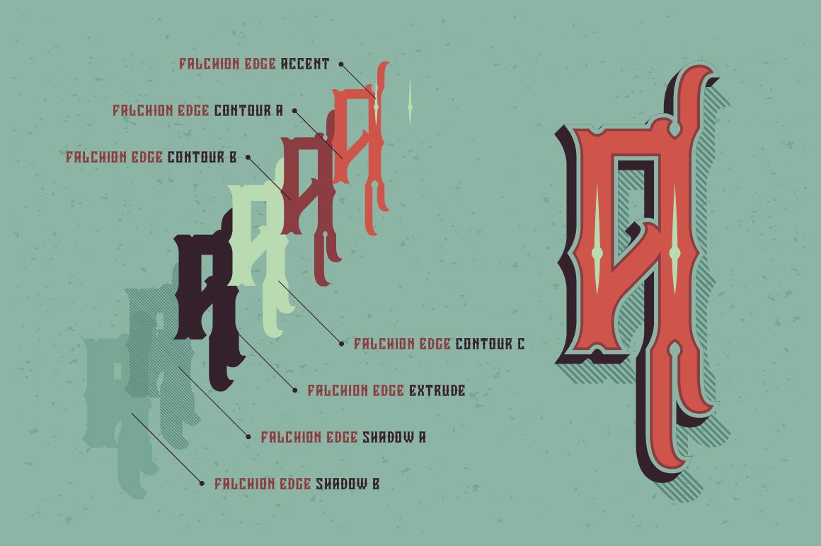 Falchion Edge font example image 4
