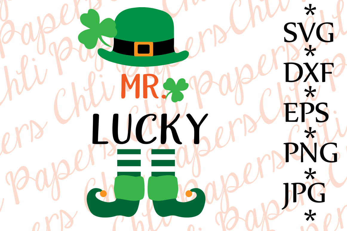 Mr. Lucky Svg example image 1