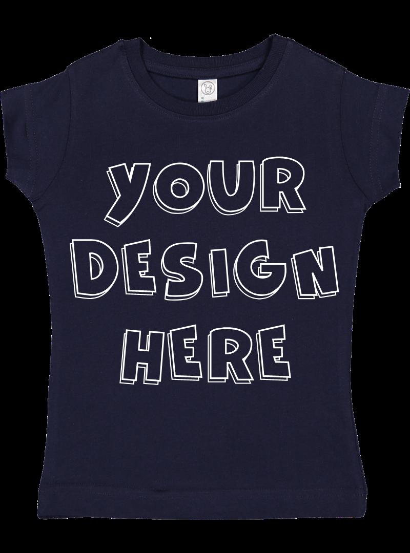 Toddler Gilrs Flat Jersey T Shirt Mockups - 17 example image 10