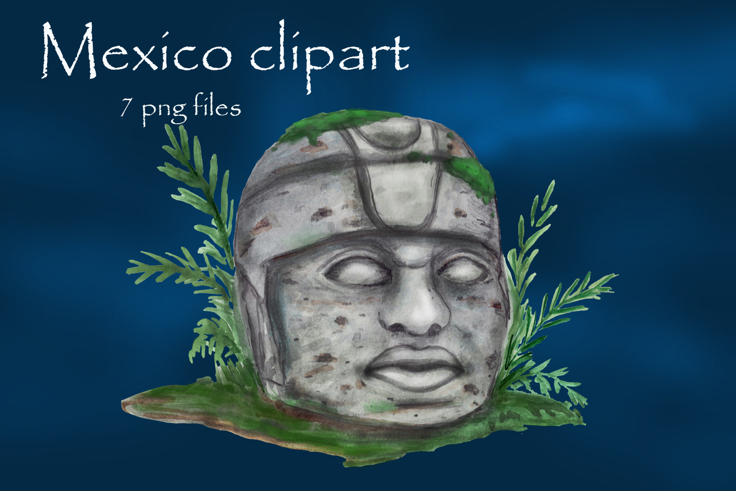 Mayan clipart, ancient civilizations of Mexico watercolor example image 4